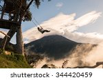 the swing at the end of the... | Shutterstock . vector #344420459