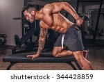 back day in the gym. | Shutterstock . vector #344428859