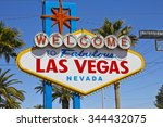las vegas   april 2010  welcome ... | Shutterstock . vector #344432075