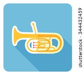 Tuba Icon. Flat Design. Vector...