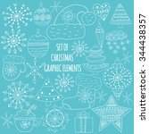 set of christmas graphic... | Shutterstock .eps vector #344438357