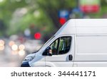 fast delivery  van on city... | Shutterstock . vector #344441171