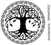 vector ornament  decorative... | Shutterstock .eps vector #344443301