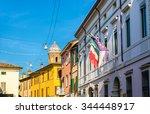 buildings in the historic... | Shutterstock . vector #344448917
