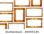 golden frames in antique style... | Shutterstock . vector #34445134