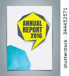 annual report cover template | Shutterstock .eps vector #344452571