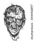 zombie head   Shutterstock .eps vector #344456897