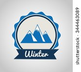 winter season design  vector... | Shutterstock .eps vector #344463089