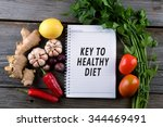 key to healthy diet  health... | Shutterstock . vector #344469491