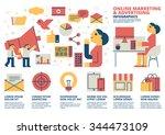 online marketing infographics | Shutterstock .eps vector #344473109