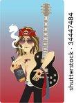 a rock star smoking a cigarette