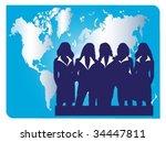 successful businesswomen.team | Shutterstock .eps vector #34447811
