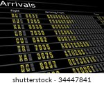 Airport Arrivals Board - stock photo