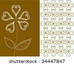 vector floral card | Shutterstock .eps vector #34447847