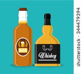 whiskey concept with bottle... | Shutterstock .eps vector #344479394