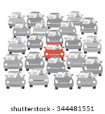 car traffic jam | Shutterstock .eps vector #344481551