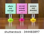 word quotes of efforts and... | Shutterstock . vector #344483897