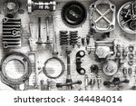 old parts of motorcycles... | Shutterstock . vector #344484014