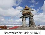 Inuksuk landmark in Rankin Inlet, Nunavut