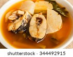 sour soup with fish and... | Shutterstock . vector #344492915