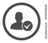 patient ok vector icon. style... | Shutterstock .eps vector #344493665