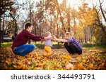 family having fun in a park | Shutterstock . vector #344493791