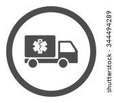 medical shipment vector icon.... | Shutterstock .eps vector #344494289