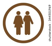 human couple vector icon. style ... | Shutterstock .eps vector #344501969