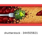 food medicine concept and... | Shutterstock . vector #344505821