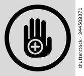 hand medical marker vector icon.... | Shutterstock .eps vector #344508371