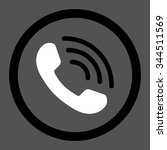 phone call vector icon. style... | Shutterstock .eps vector #344511569