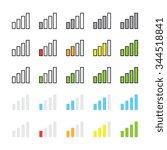 network signal strength...   Shutterstock .eps vector #344518841