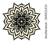 one flower isolated on white...   Shutterstock .eps vector #344521211