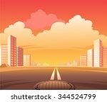 city street road  the scene of... | Shutterstock .eps vector #344524799
