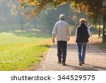 senior citizen couple taking a... | Shutterstock . vector #344529575