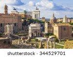 roman forums  | Shutterstock . vector #344529701