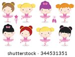 a set of cute and pretty... | Shutterstock .eps vector #344531351