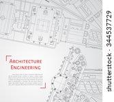 vector technical blueprint of ...   Shutterstock .eps vector #344537729