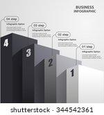 high pillars staircase vector... | Shutterstock .eps vector #344542361