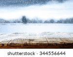 winter blue background with... | Shutterstock . vector #344556644