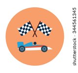 car racing colored vector icon  | Shutterstock .eps vector #344561345