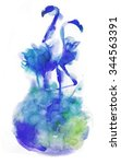watercolor flamingo painting  | Shutterstock . vector #344563391