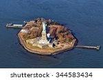 Liberty Island Isolated