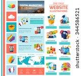digital marketing infographics... | Shutterstock .eps vector #344586521