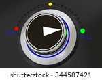 rotary knob with colored button ... | Shutterstock . vector #344587421