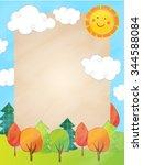 cartoon poster design   Shutterstock .eps vector #344588084