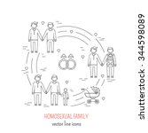 nontraditional family line... | Shutterstock .eps vector #344598089