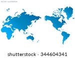 image of a vector world map | Shutterstock .eps vector #344604341