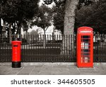 Red Telephone And Post Box In...