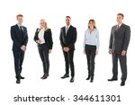 full length portrait of... | Shutterstock . vector #344611301